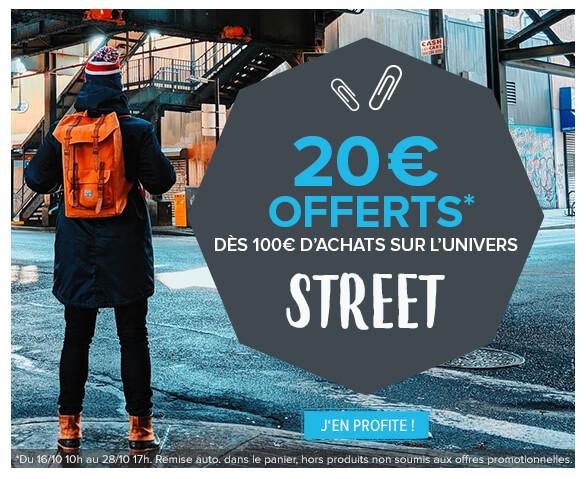 Obtenez une remise immédiate de 20€ dès 100€ d'achats !