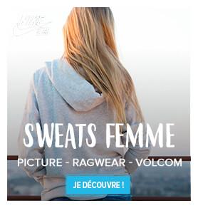 Découvrez l'ensemble de notre gamme sweats femme !