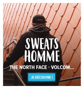 Découvrez nos sweats Homme : The North Face, Volcom...