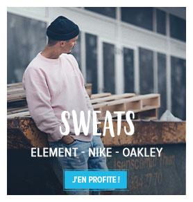 Profitez de nos Sweats street Homme : Element, Nike, Oakley...