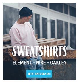 Jetzt entdecken Herren Sweatshirts   : Element, Nike, Oakley…