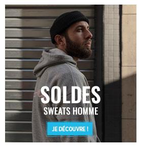 Soldes Sweats Homme : jusqu'à -50% supplémentaires !