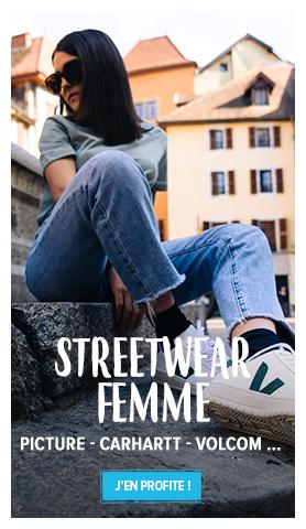 Découvrez notre rayon Streetwear Femme : Picture, Carhartt, Volcom…