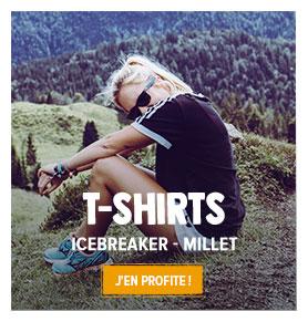 Découvrez notre rayon T-shirts respirants Femme : Icebreaker, Millet...