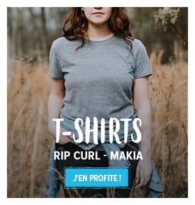 Découvrez notre rayon T-shirts Street Femme : Rip Curl, Makia...