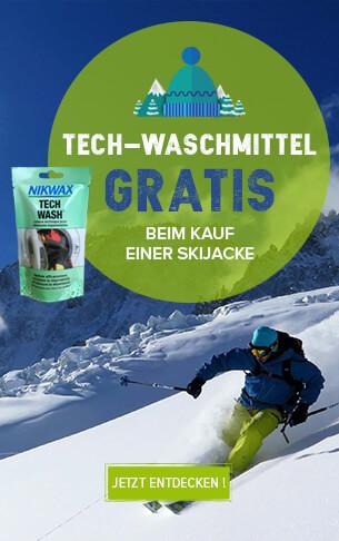 Tech-waschmittel gratis beim kauf einer skijacke!