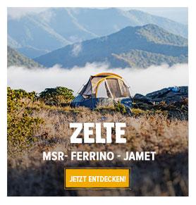 Jetz Entdecken Zelte: MSR, Ferrino, Jamet…