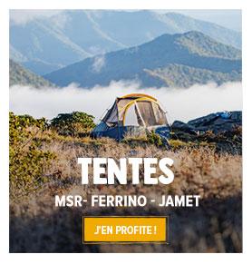 Profitez de notre rayon Tentes : MST, Ferrino, Jamet...