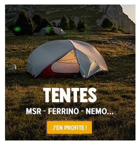 Découvrez notre rayon tentes : MSR, Nemo, Camp…