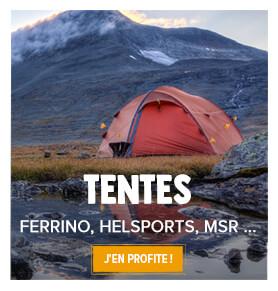 Tentes de camping, rando, haute montagne, etc.