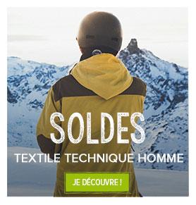 Soldes sur le textile technique homme