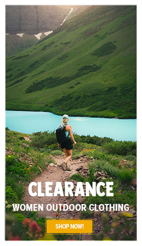 Summer Clearance on Women's outdoor clothing! Until 50% off.