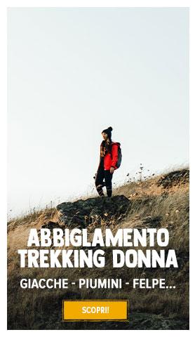 Scopri Abbigliamento da trekking Donna : Gicche, Magliette, Piumini...