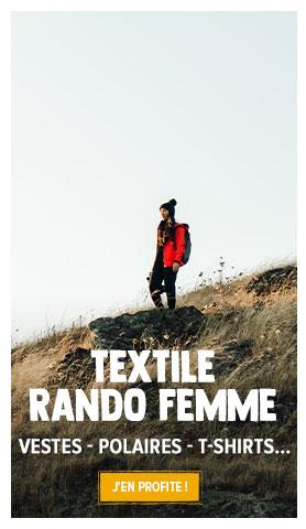 Découvrez notre rayon Textile de Randonée Femme : Vestes, Doudounes, Polaires...