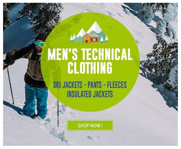 Men's Technical Clothing: Ski jackets - pants - fleecesInsulated Jackets !