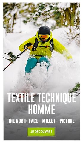 Profitez de notre large rayon de Textile snow : Vestes, Pantalons, Polaires...