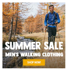 It's Summer sale! Come discover our Men's Walking Clothing assortment on sale