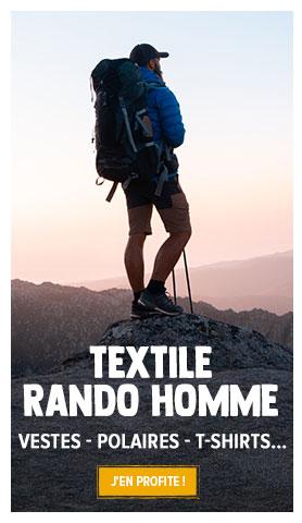 Découvrez l'ensemble de notre rayon Textile Randonnée Homme : Vestes, Doudounes, Polaires etc...