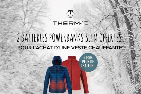 2 batteries Therm-ic offertes pour 2 fois plus de chaleur!