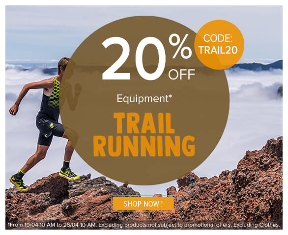 20% off, on trail running !