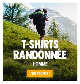 Découvrez notre collection de T-shirt Randonnée Homme