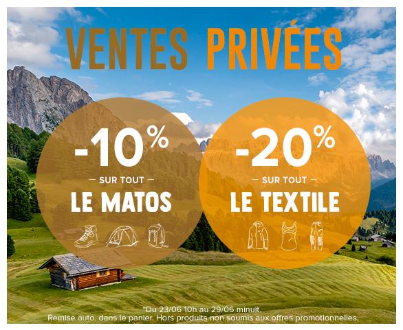 Ventes Privées : profitez de -10% supp. sur tout le matos et de -20% supp. sur tous les produits Textile !