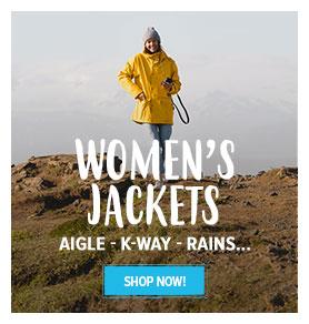 Women's jackets : Aigle - K-Way - Rains…