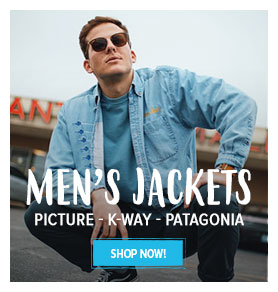 Come discover our Men's Jackets: Picture, K-way, Patagonia…