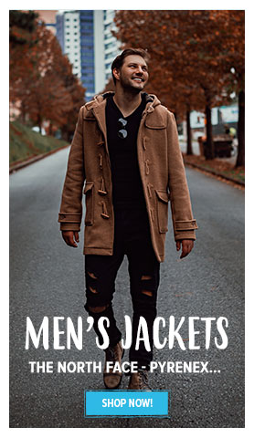 All of our Men's Jackets products : The North Face, Pyrenex, Makia...