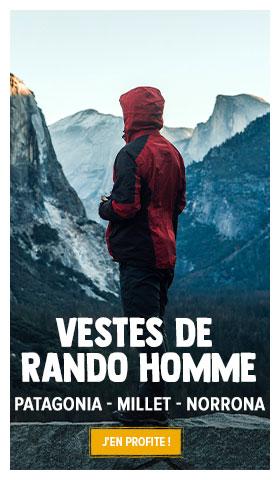 Découvrez notre rayon vestes de randonnée Homme : Patagonia, Millet, Norrona...