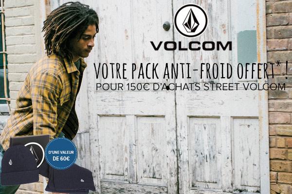 Bonnet et écharpe Volcom offerts !