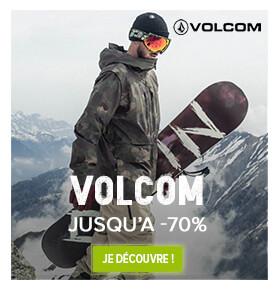 Jusuqu'à -70% sur la marque Volcom !