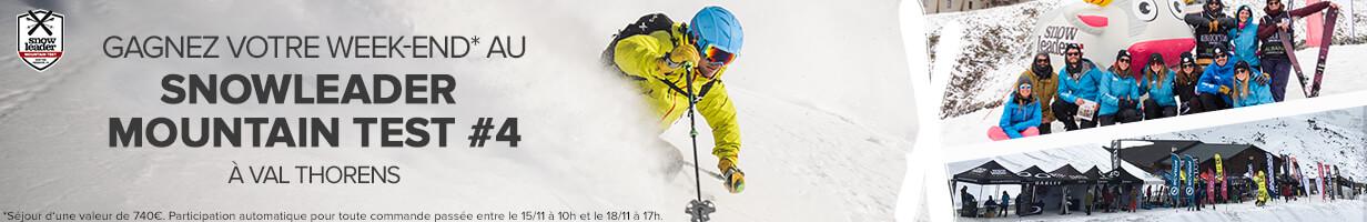 Tentez de remporter un week-end d'une valeur de 740€ pour 4 personnes au Snowleader Mountain Test !