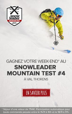 Gagnez un week-end pour 4 personnes d'une valeur de 756€au Snowleader Mountain Test !