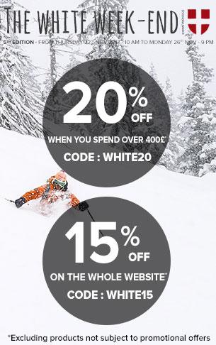 White Weekend: Until 20% off on the whole website !